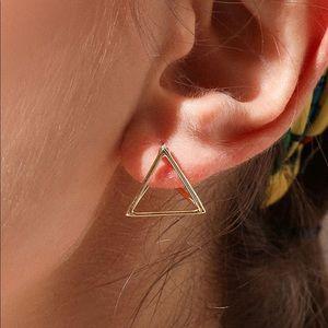 3/$13 3D Triangle Gold Earrings